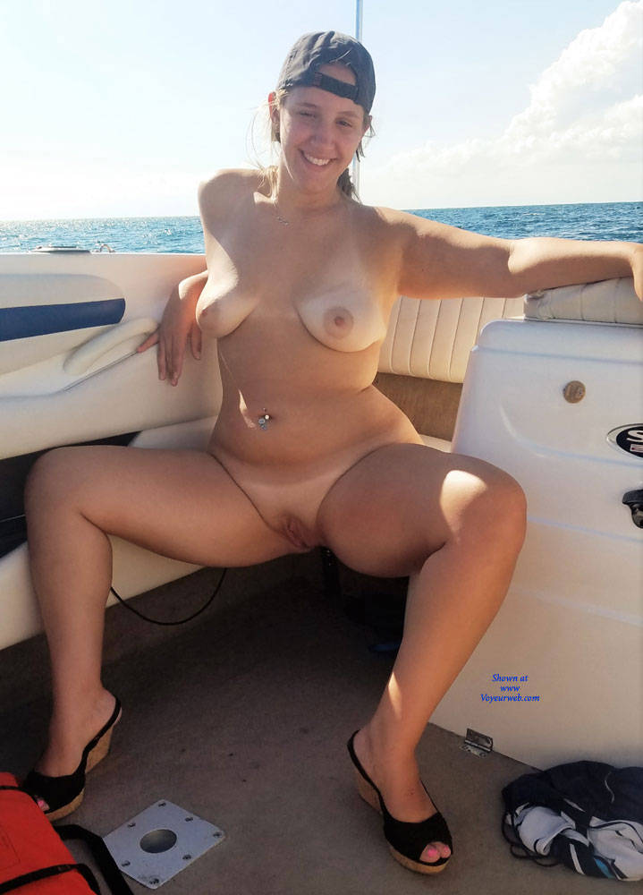 Amateur nude girls on a boat