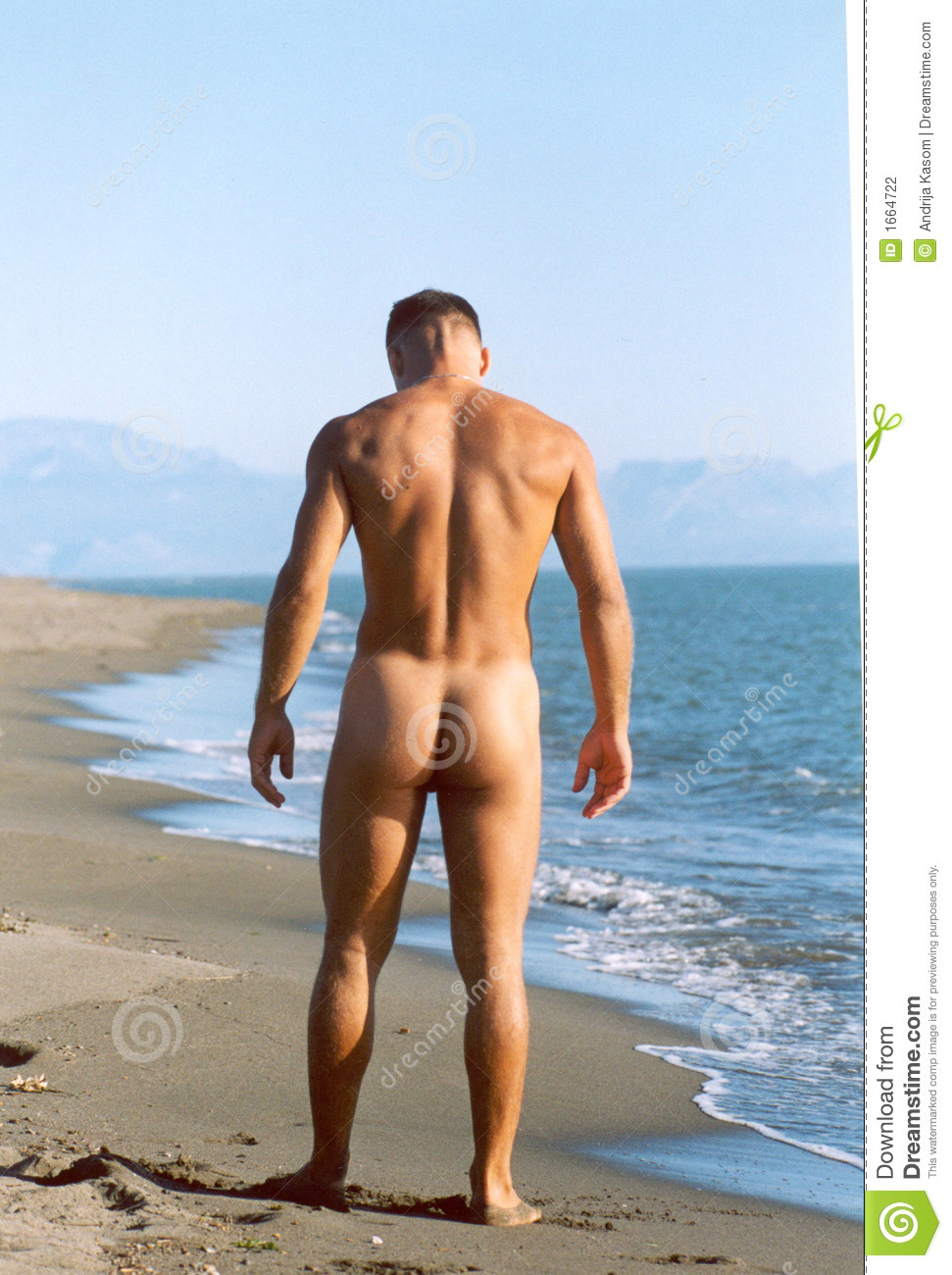 Male nude in the nature