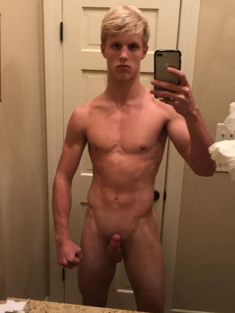 Naked blonde male